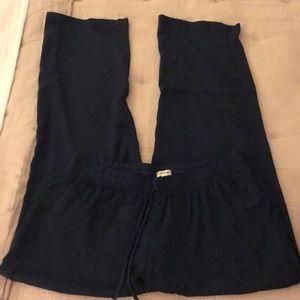 PJ salvage navy blue silk pajama pants size M